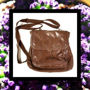 The Sak Brown Leather Crossbody Bag